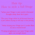How to style a full fringe