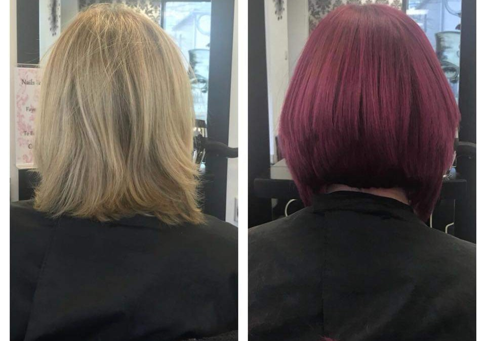 Previous hair colours by faye louise