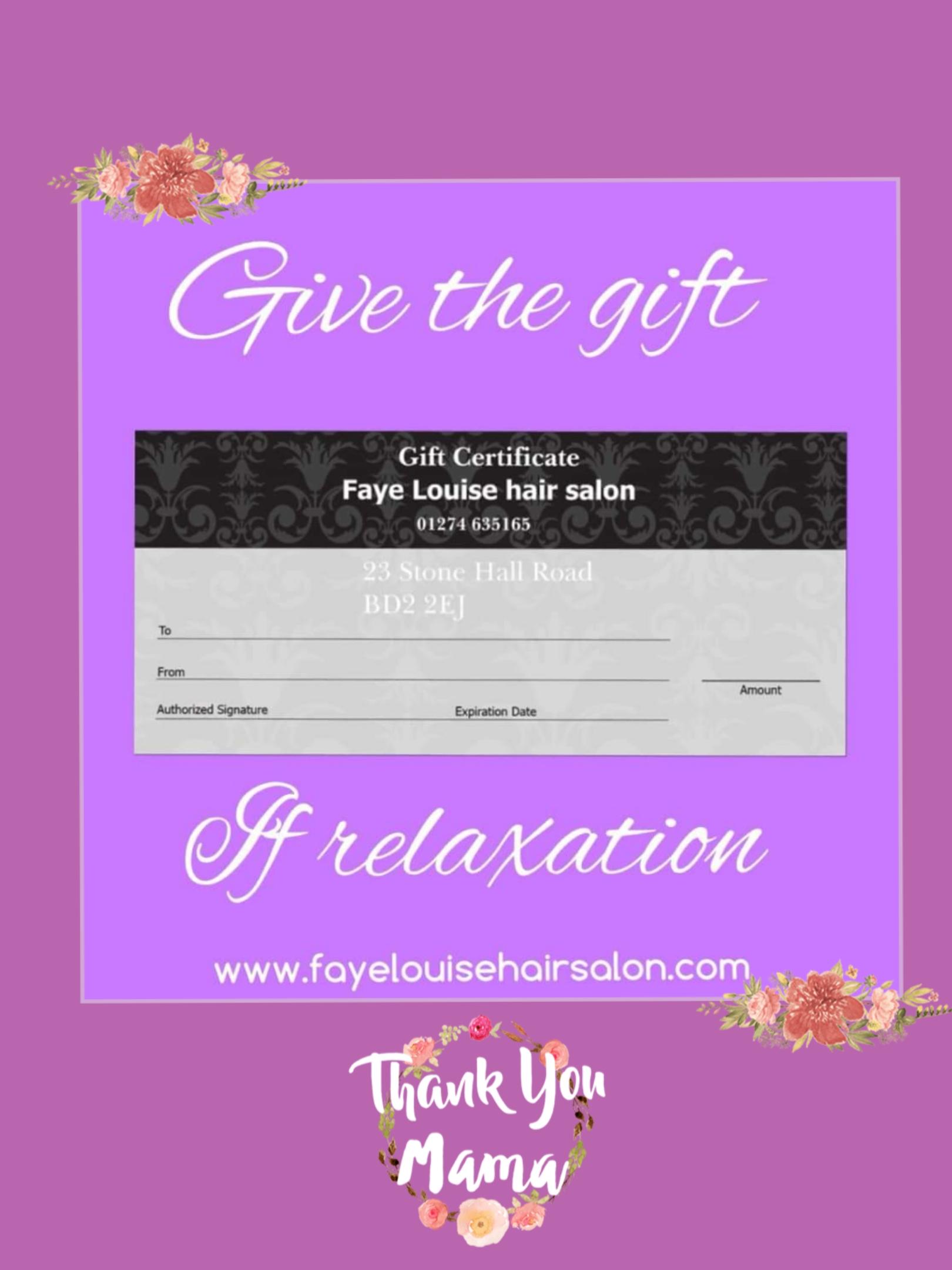 Mothers day 15 – Faye Louise Hair Salon
